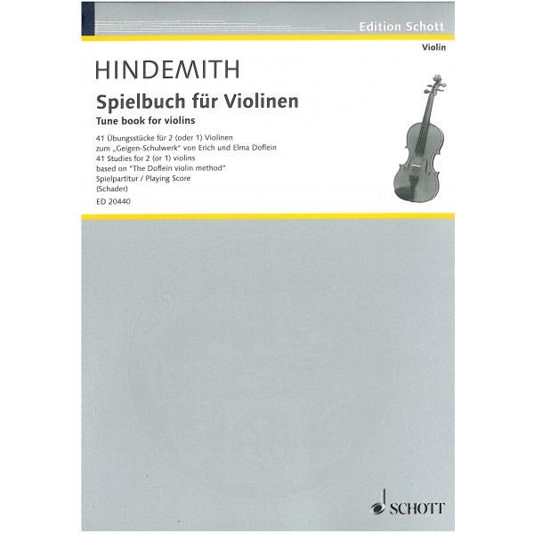 Hindemith, Paul - Tune book for violins.