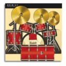 Drum Kit 3D greeting card