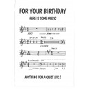 For Your Birthday Here is Some Music, Anything for a Quiet Life! Birthday Card