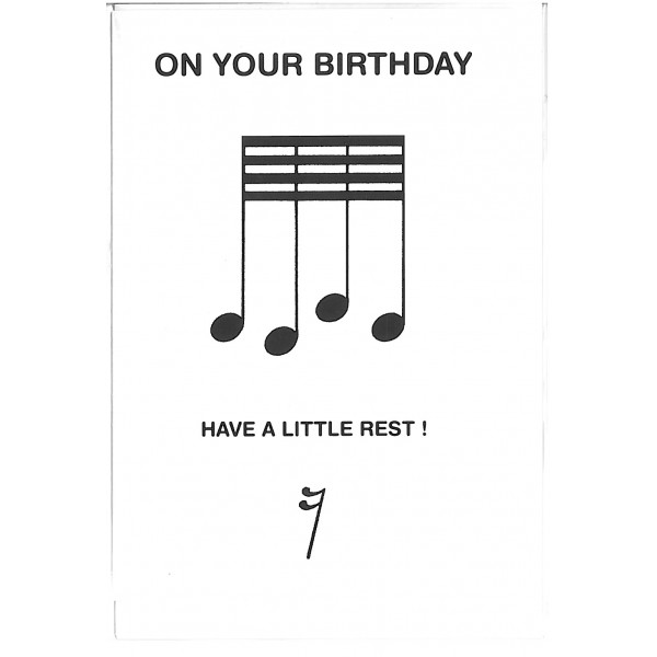 On Your Birthday Have A Little Rest Birthday Card