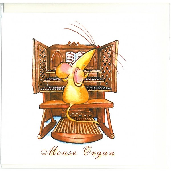 Mouse Organ Greetings Card