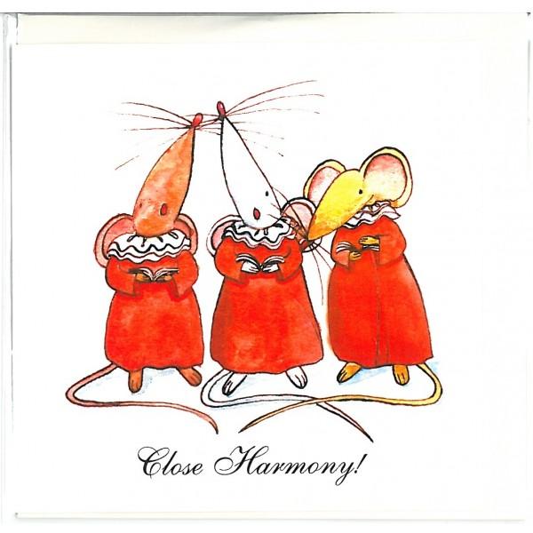 Close Harmony! Greetings Card