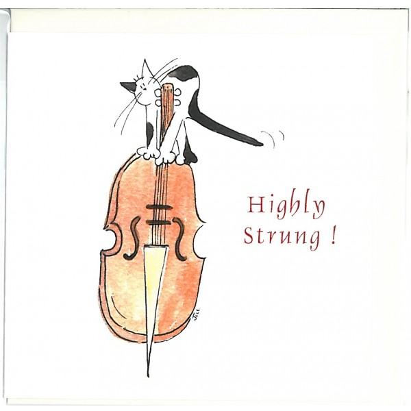 Highly Strung! Greetings Card