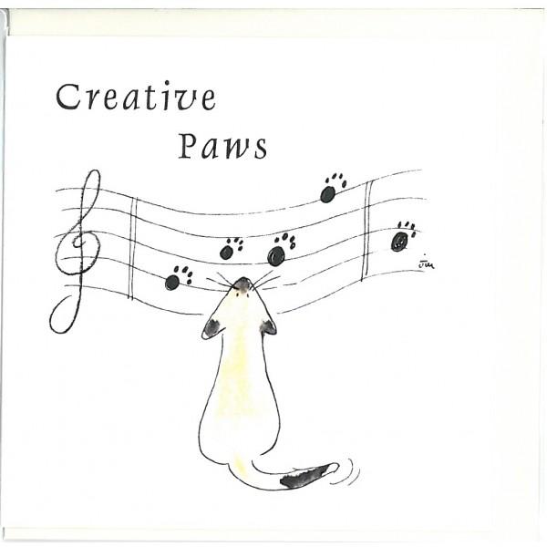 Creative Paws Greetings Card