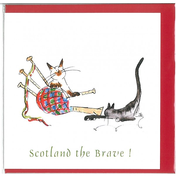 Scotland the Brave! Greetings Card
