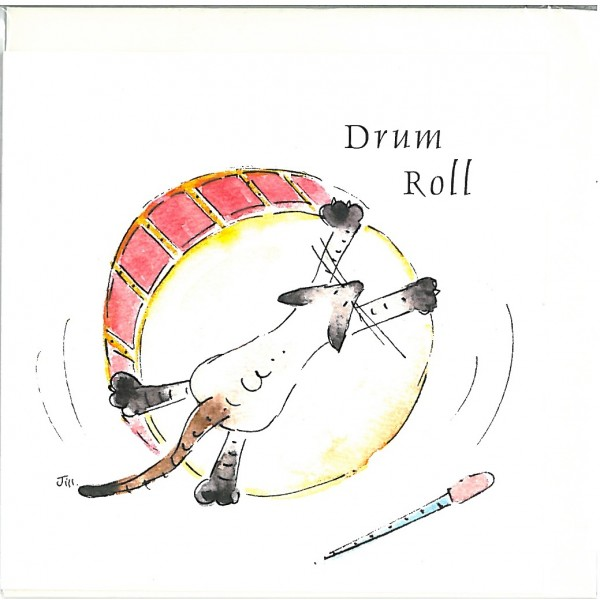 Drum Roll Greetings Card