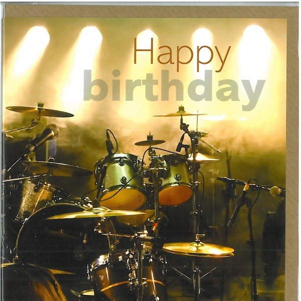 Drums birthday card m4hsunfo