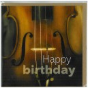 Violin Birthday Card