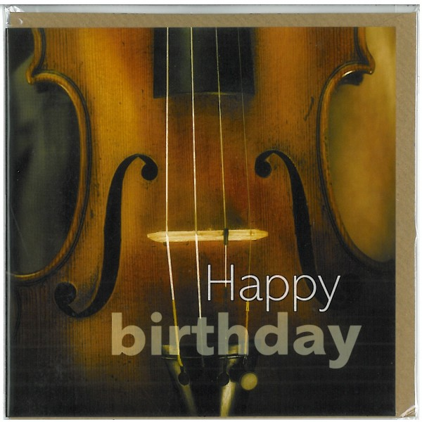 Violin Birthday Card