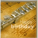 Flute Birthday Card