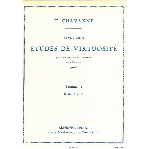 Chavanne, Henri - 25 Etudes de Virtuosite, Vol 1