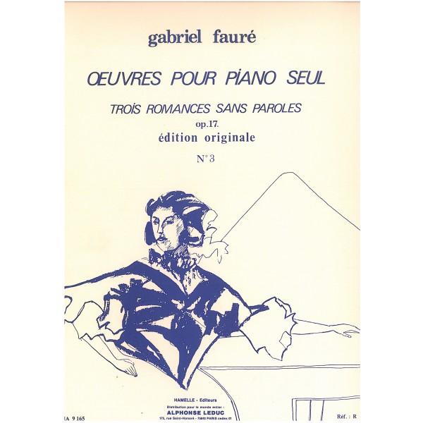 Faure, Gabriel - Troisieme Romance sans Paroles