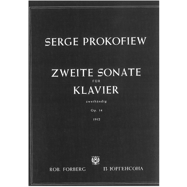 Prokofiev, Sergei - Second Piano Sonata Op14