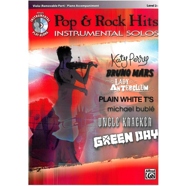 Pop & Rock Hits, Viola with Viola Piano Accompaniment
