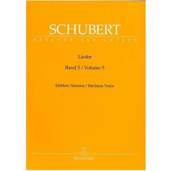 Schubert, Franz - Lieder Volume 5, Medium Voice