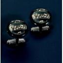 Black Stave Cufflinks