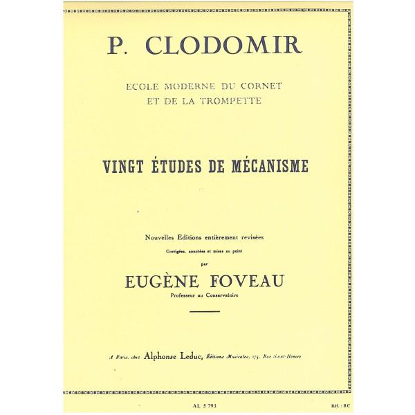 Clodomir P - 20 Etudes de Mecanisme, op143