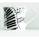 Dunoon Mug - Stave and keyboard