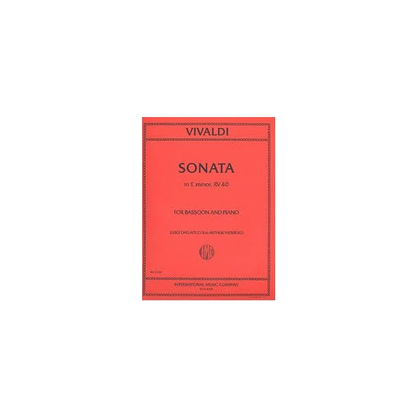 Vivaldi Sonata No. 5 in E minor for Bassoon and Piano