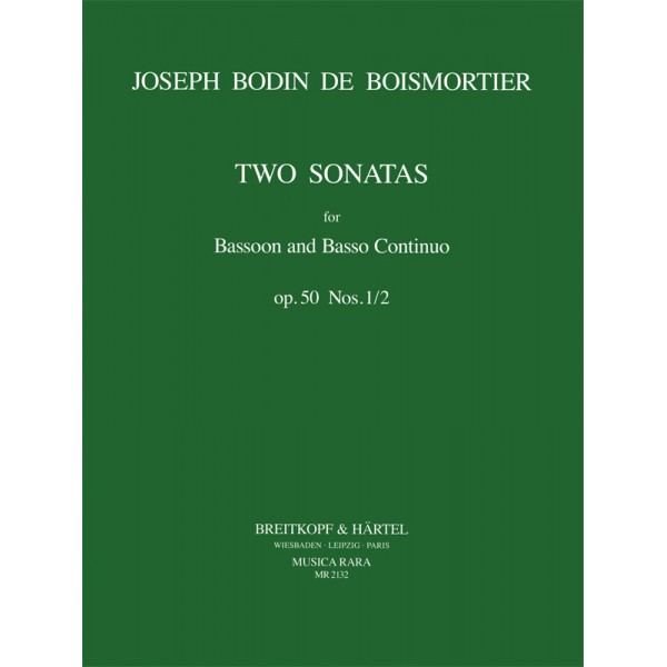 Boismortier Two Sonatas Opus 50