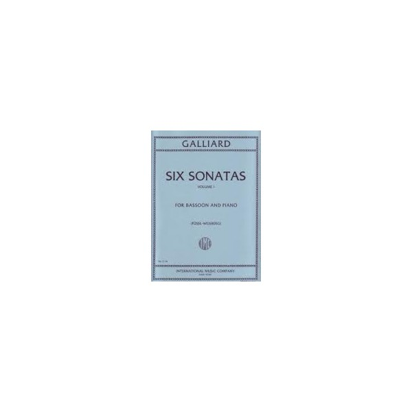 Galliard six Sonatas Volume 1