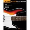 Hal Leonard Bass Guitar Tab Manuscript Paper