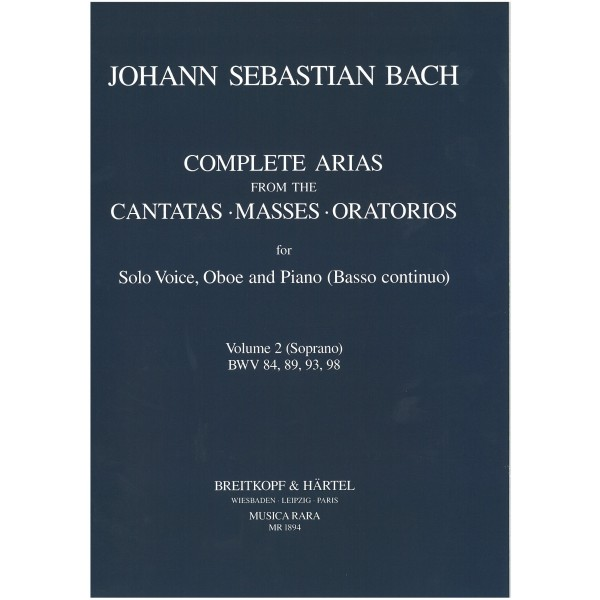 Bach, J. S. - Complete Arias, Volume 2 for Soprano