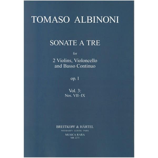 Albinoni, Tomaso - Sonate a tre, op. 1