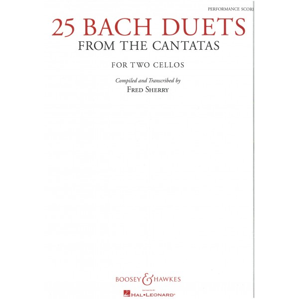 Bach, J S - 25 Duets from the Cantatas (2 Celli)