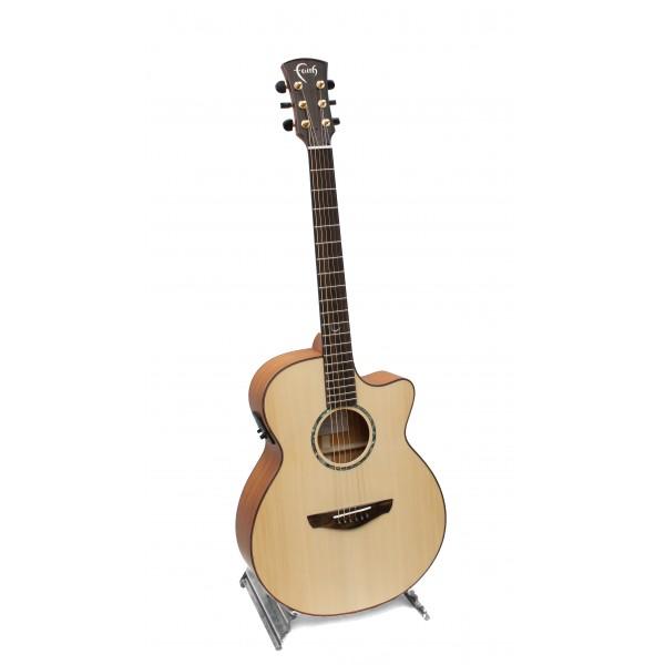 Faith FV Natural Venus cutaway electro acoustic guitar