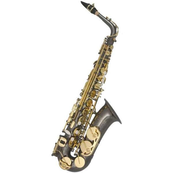 Trevor James SR Alto Sax Outfit (Black Nickel and Gold Lacquer)