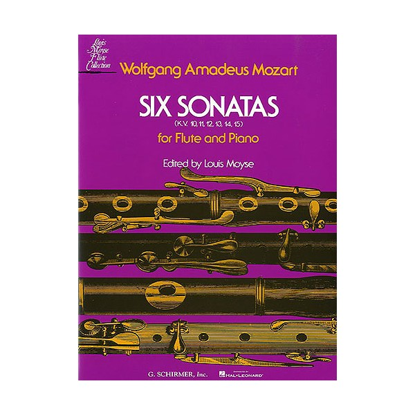 W.A. Mozart: Six Sonatas For Flute And Piano - Mozart, Wolfgang Amadeus (Artist)