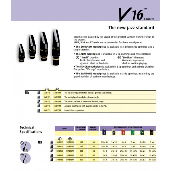 Vandoren Alto Sax Mouthpieces