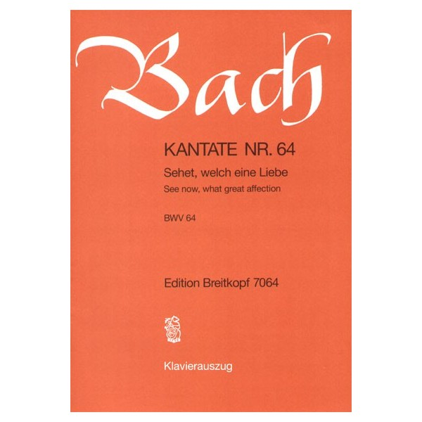 Bach, J S - Cantata Number 64 (BWV64)