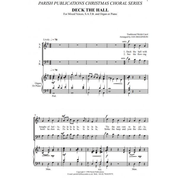 Higginson, Ian - Deck the Hall (SATB & Keyboard)