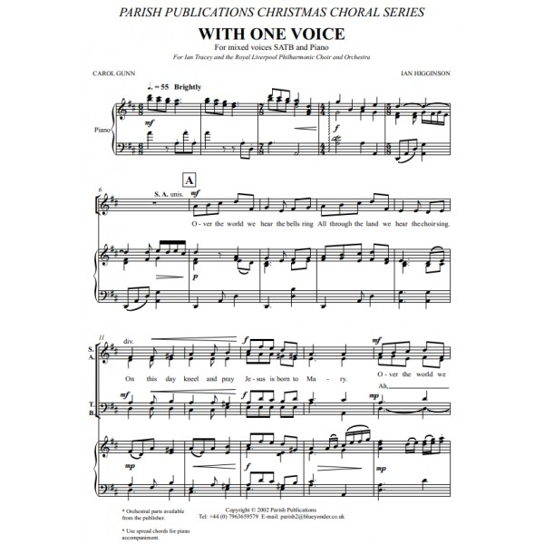 Higginson, Ian - With One Voice (SATB & Keyboard)