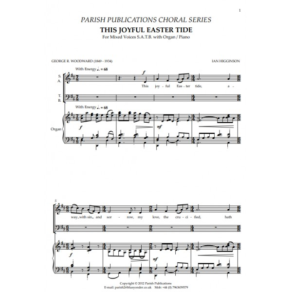 Higginson, Ian - This Joyful Eastertide (SATB & Keyboard)