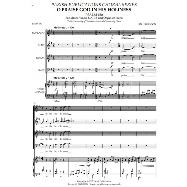 Higginson, Ian - O Praise God in His Holiness (SATB & Keyboard)