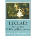 Leclair - Two Sonatas for Flute