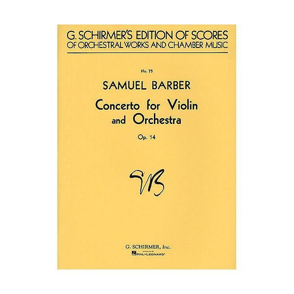 Samuel Barber: Concerto For Violin And Orchestra Op.14 (Full Score) - Barber, Samuel (Composer)
