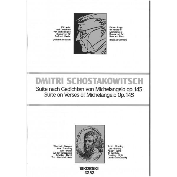 Shoatakovich, Dmitri - Michelangelo Lieder