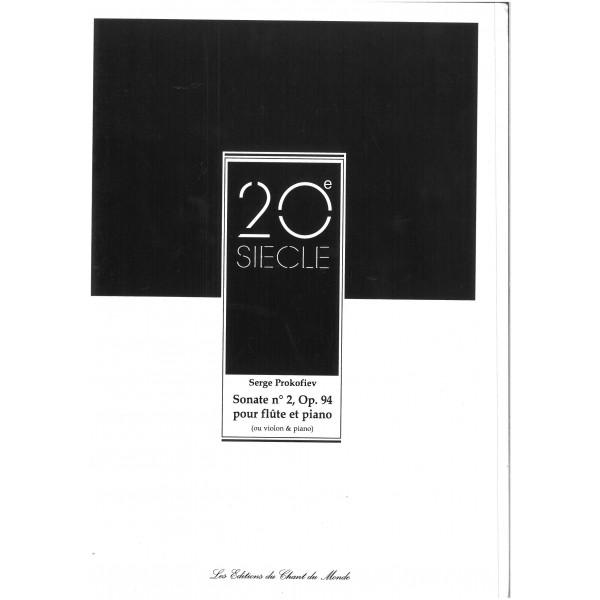 Prokofieff, Serge - Flute Sonata No. 2 op. 94