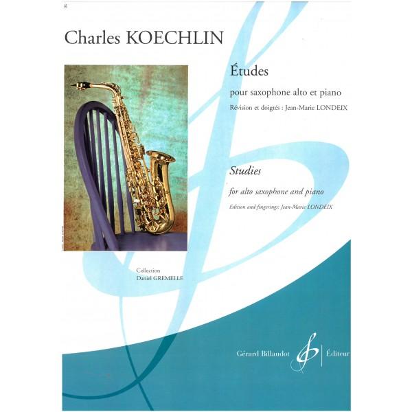 Koechlin, Charles - Etudes (Studies) (Saxophone & Piano)