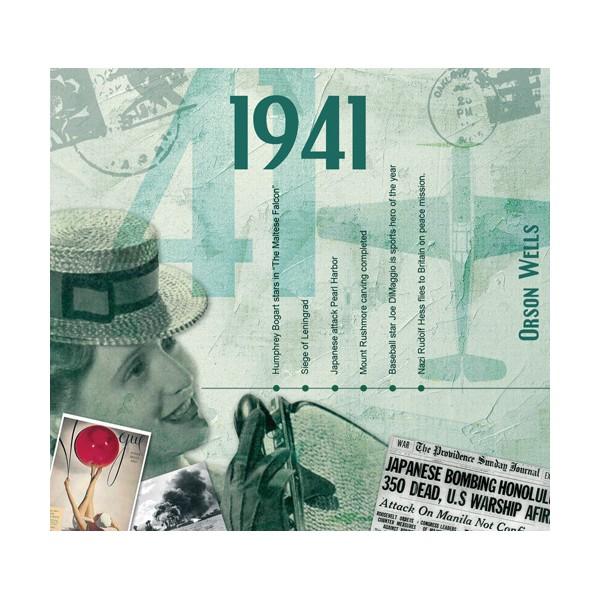1941 CLASSIC YEARS CD CARD