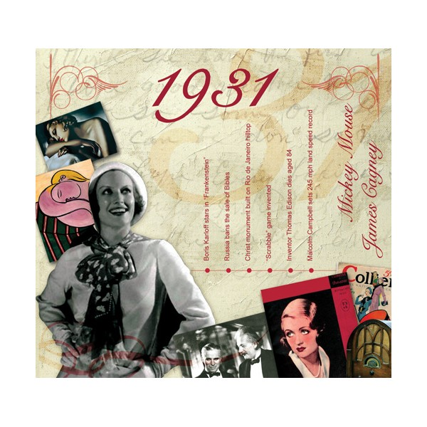 1931 CLASSIC YEARS CD CARD