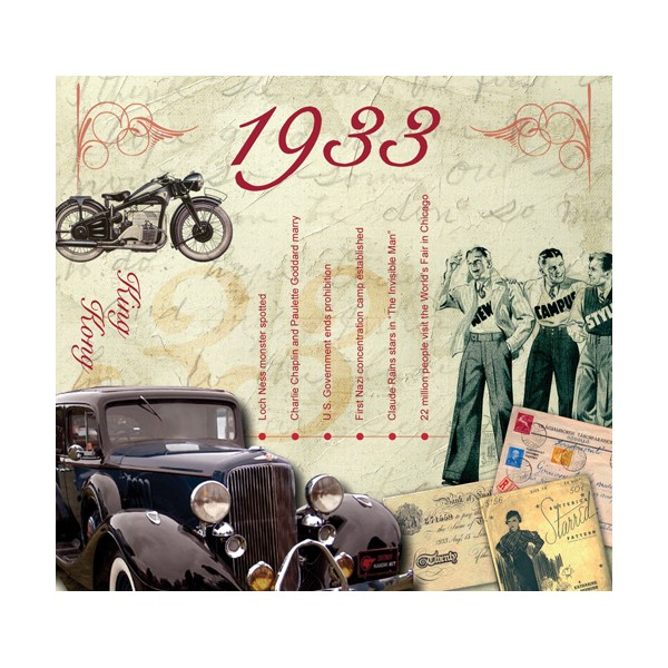 1933 CLASSIC YEARS CD CARD