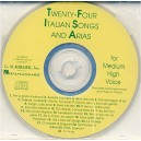 24 Italian Songs And Arias Of The 17th And 18th Centuries -  Medium High Voice (CD only)