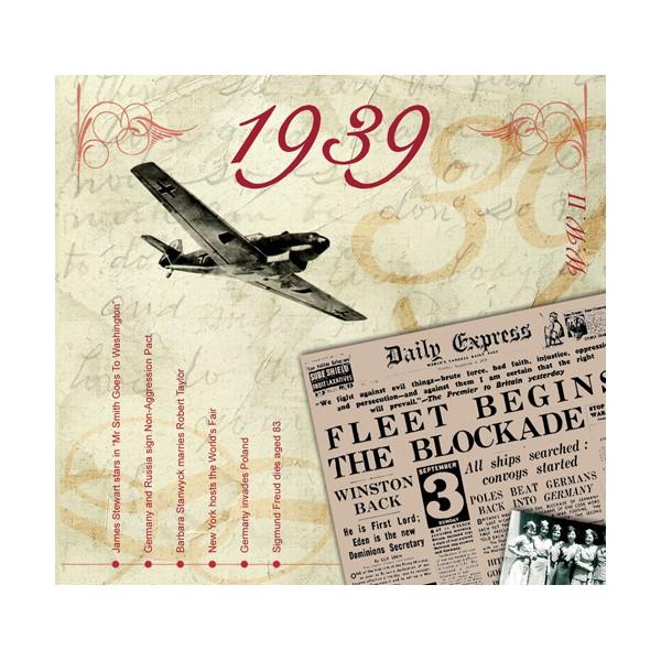 1939 CLASSIC YEARS CD CARD