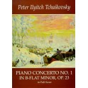 P.I. Tchaikovsky: Piano Concerto No.1 In B Flat Minor Op.23 (Full Score) - Tchaikovsky, Pyotr Ilyich (Artist)