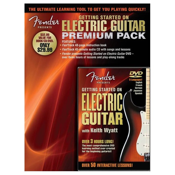 Fender Presents: Getting Started On Electric Guitar – Premium Pack -